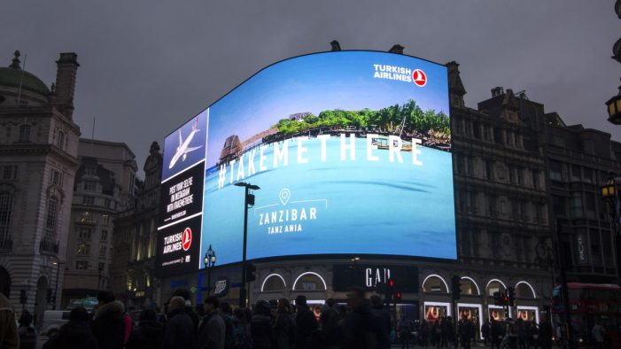 Turkish Airlines first airline to advertise on new Piccadilly Lights