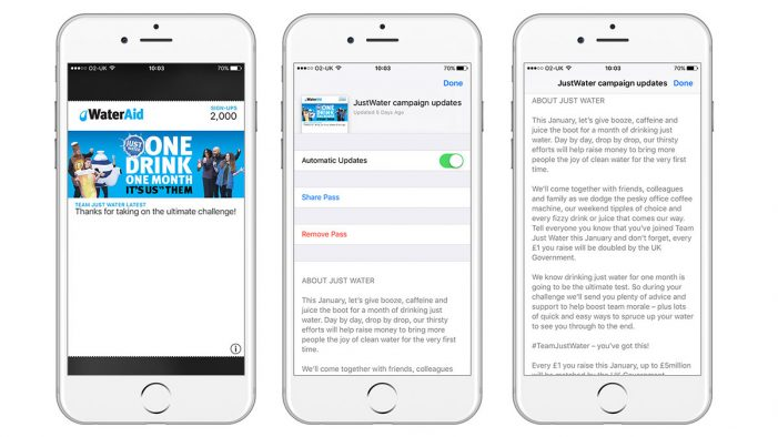 WaterAid adds a new way to communicate with its supporters via mobile wallets