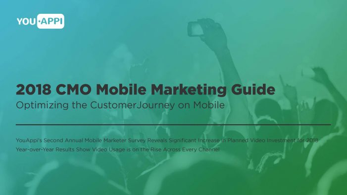 YouAppi's CMO Mobile Marketing Guide Reveals Significant Increase in Video Investment for 2018
