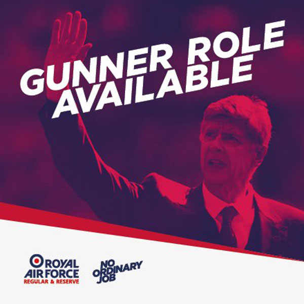 The Royal Air Force Capitalise on Arséne Wenger's Announcement with Witty New Job Post