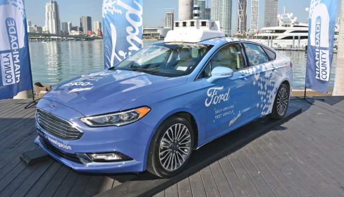"Ford to launch self-driving car network ""at scale"" by 2021"