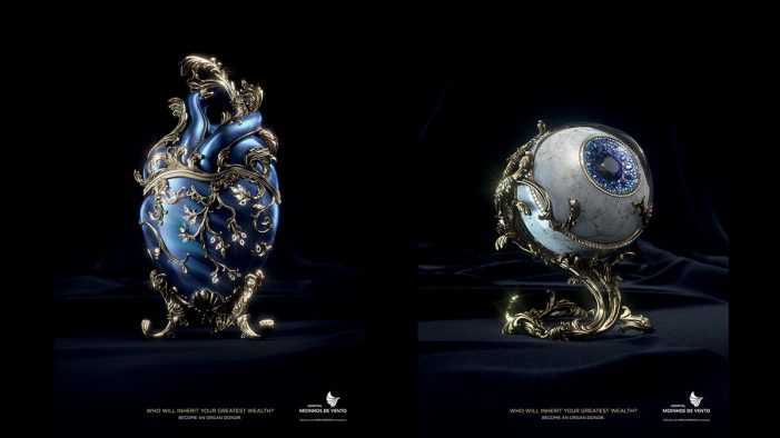 McCann Health re-imagines fabergé eggs as human organs to highlight the value of organ donations in campaign