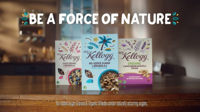 Kellogg's launches its new plant powered range with 'Be a Force of Nature' campaign