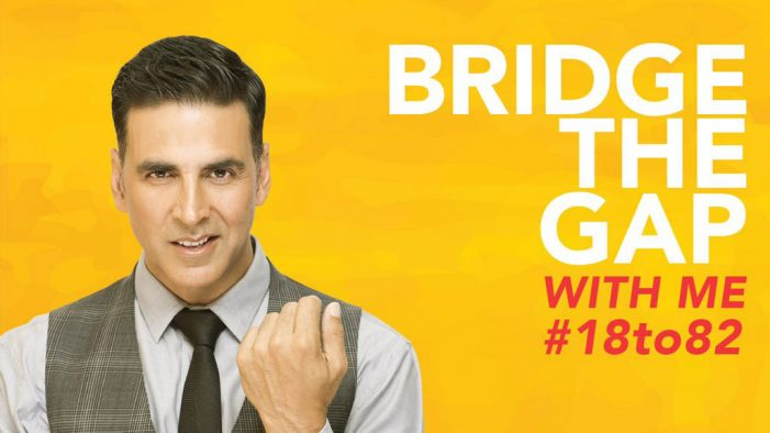 Akshay Kumar lends his support to #18to82 campaign under 'Niine Movement'