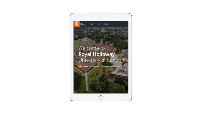 Royal Holloway launches new website in partnership with Splendid Unlimited