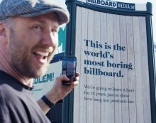 Stendahls unveils the world's most boring billboard for Sioo:x