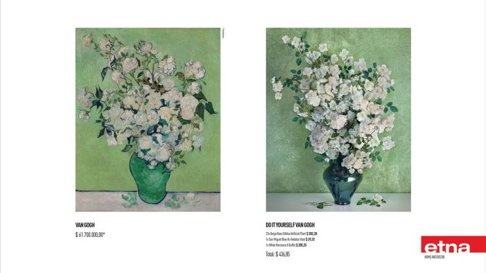 """Brazilian home and decor store Etna, reproduces classic paintings in """"Do It Yourself"""" campaign"""