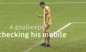 Uber campaign for Yellow May shows how mobiles distract drivers – by having a goalkeeper use his