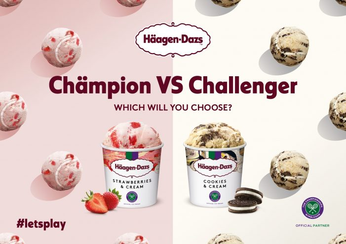 "Häagen-Dazs and Grigor Dimitrov Team for ""Let's Play"" Flavour-Battle Inspired Wimbledon Campaign"