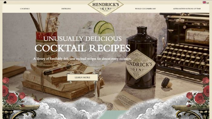 Hendrick's Gin Launches Global Brand Sites Across America, Canada and Europe