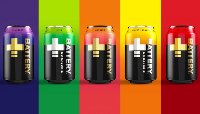 Battery Energy Drink Rebrands with a +positively Striking New Identity by bluemarlin