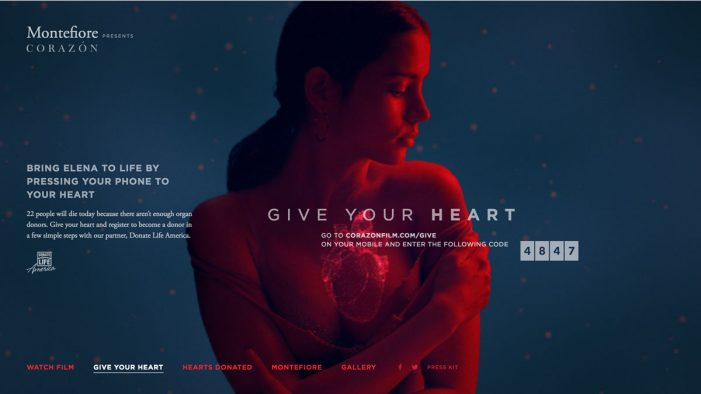 "JohnXHannes NY wins Cannes Lions Grand Prix for ""Corazón – Give Your Heart"""