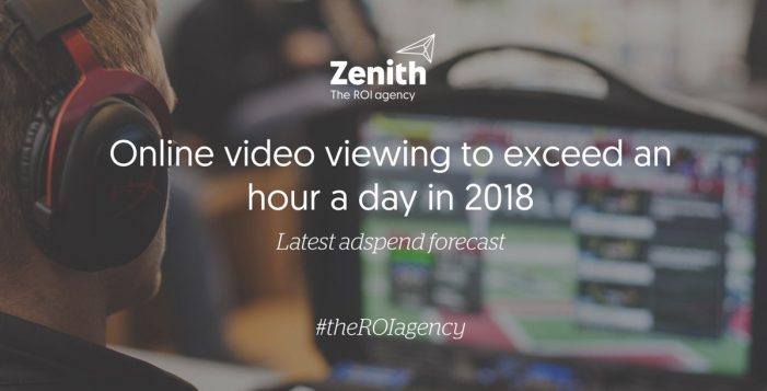 Online video viewing to exceed an hour a day in 2018, according to Zenith