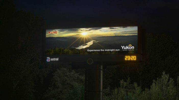 Yukon's Midnight Sun Shines Bright in Vancouver in New OOH Campaign by Cossette