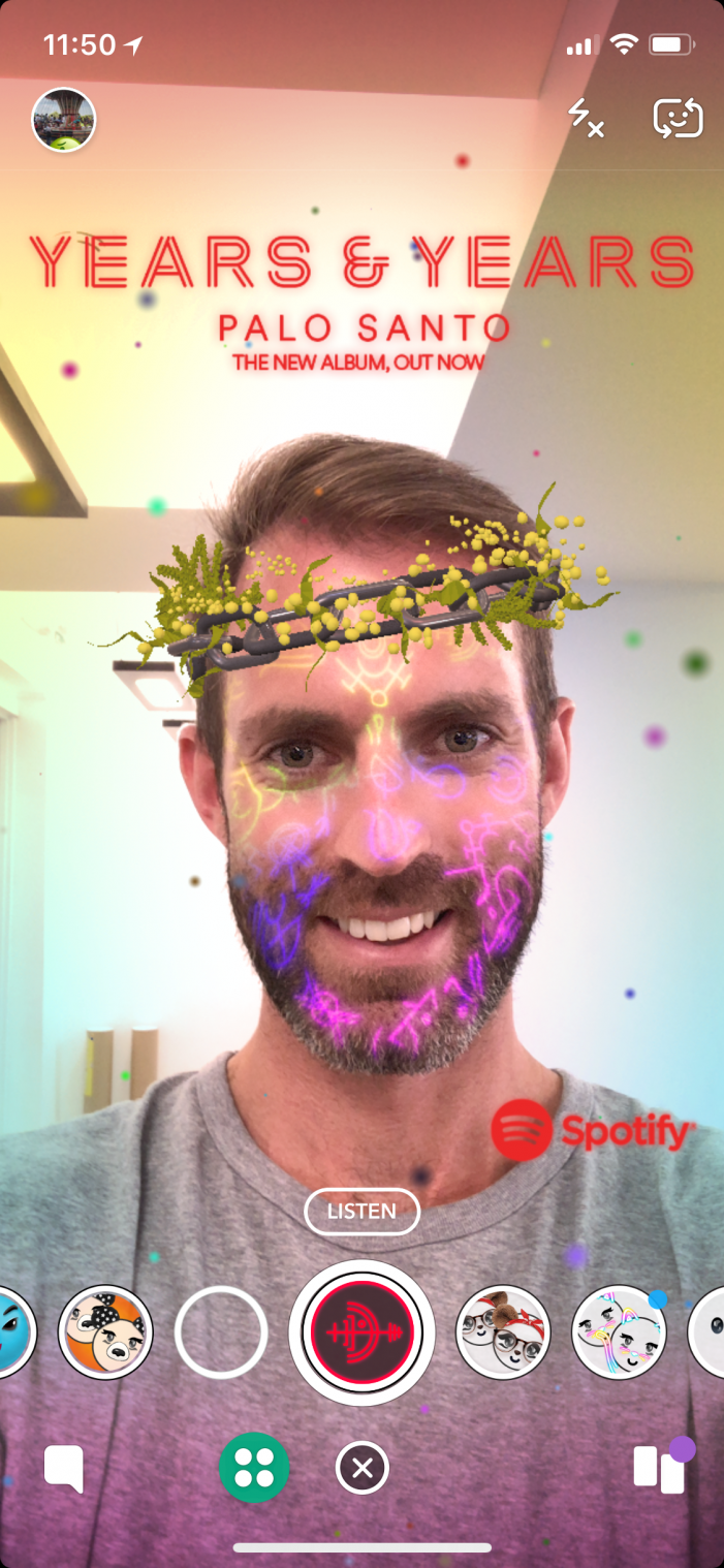 UM, Byte, Spotify and Years & Years launch new Snapchat Lens