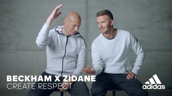 "Beckham & Zidane – ""Create Respect"" ""Creators Never Die"" Adidas Football"