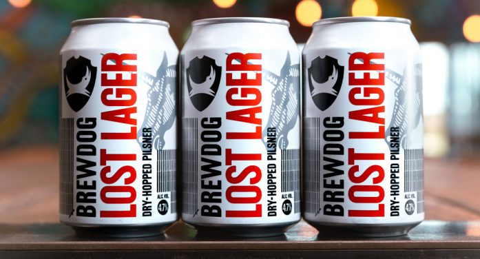 BrewDog Launches Lost Lager with Naming and Design by B&B Studio