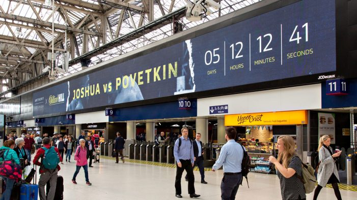 William Hill bets on first ever dynamic DOOH campaign to celebrate Anthony Joshua signing