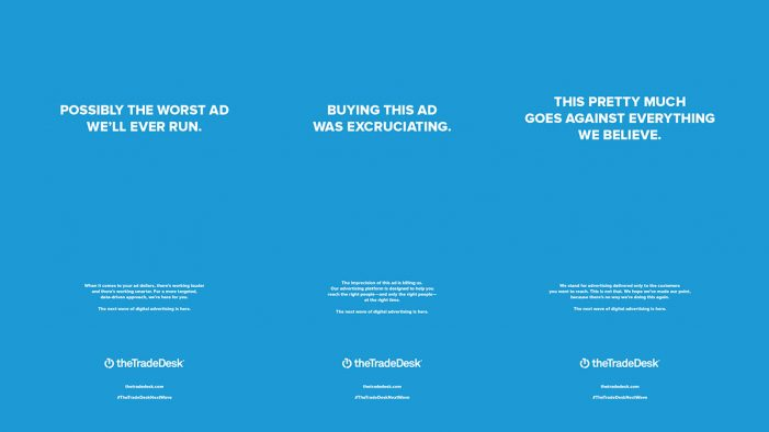 The Trade Desk unveils the 'Most Excruciating Ad Buy Ever' in new print campaign by VSA Partners