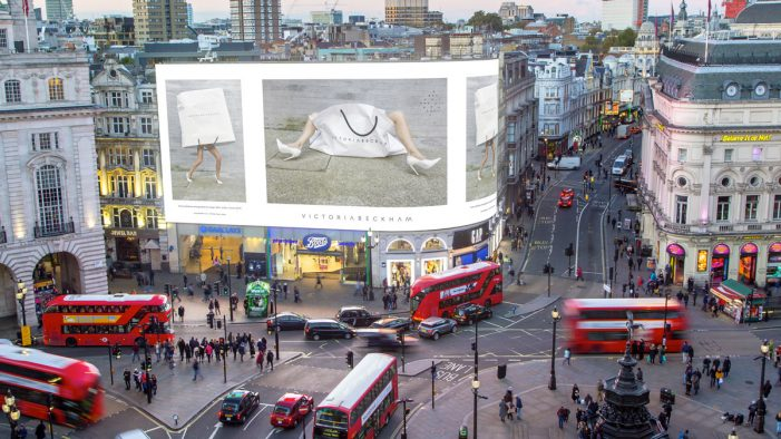 Victoria Beckham marks London Fashion Week debut with showcase on Landsec's famous Piccadilly Lights