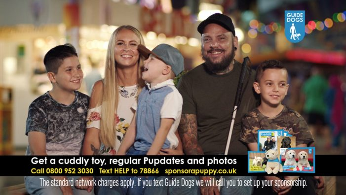 Guide Dogs' new DRTV ad reveals inspirational ambitions of a tattoo artist following sight loss