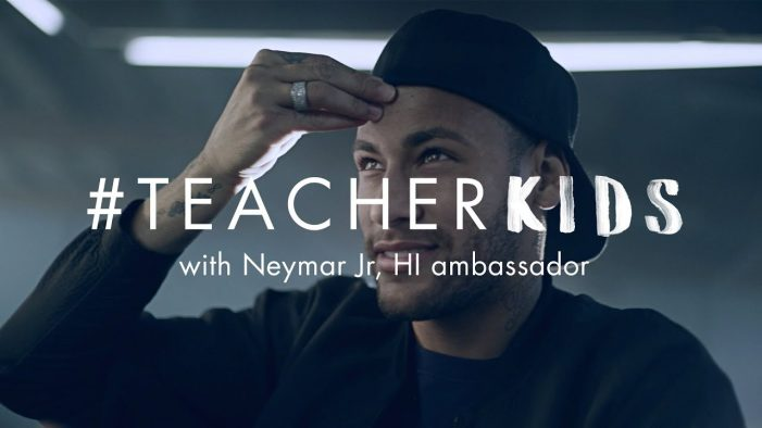 Neymar Jr. teams up with HI to make a difference to children's lives