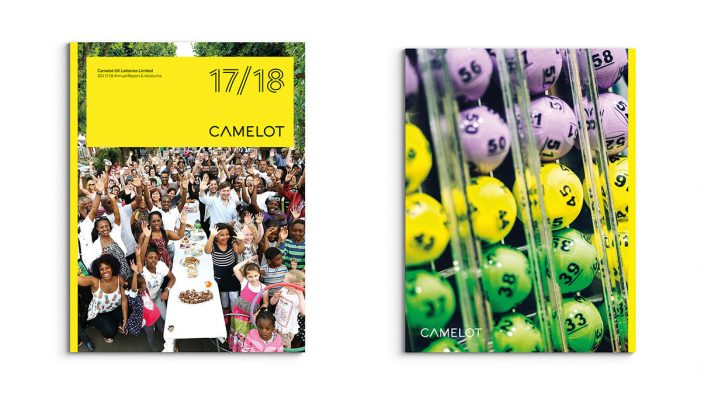 Creative agency Spinach designs the Annual Report for Camelot, operator of the UK National Lottery