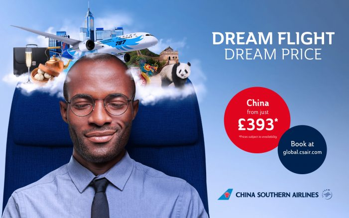 Crowd creates a dreamy OOH campaign for China Southern Airlines