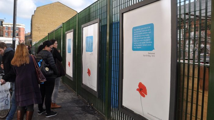 Truant's Armistice Day memorial brings realities of war to the young in the UK