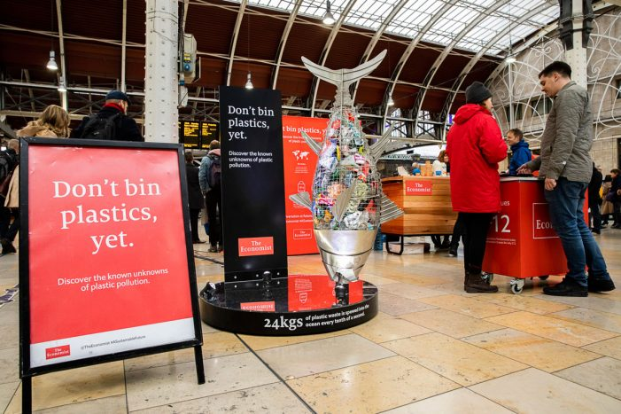 The Economist encourages Londoners to rethink the war on plastic