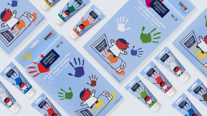Lewis Moberly delivers authentic new identity for children's art materials range, Lefranc Bourgeois Enfants