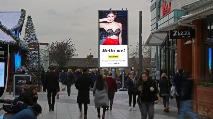"""Wonderbra returns to spectacular out-of-home with """"Hello Me!"""""""