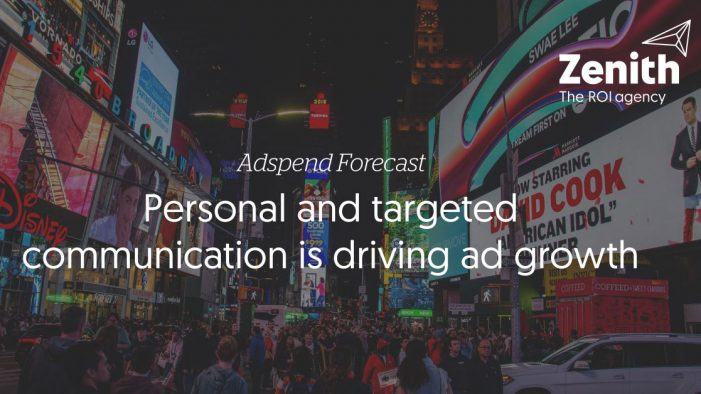 Personal and targeted communication is driving ad growth, according to Zenith