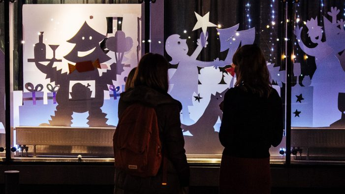 Elmwood's Christmas Winter Window Display raises money for children born limb different