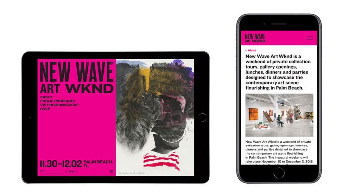 Watson & Co. Redesigns New Wave Art Wknd Website