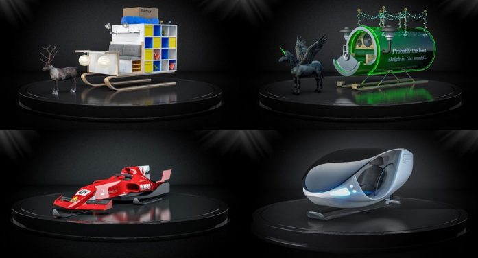 Edit agency re-design Santa's sleigh through the eyes of Carlsberg, IKEA, Apple and more