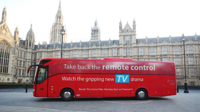 New 'Brexit Bus' hits the road to promote Channel 4 drama